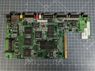 Amiga 1200 Motherboard.  Rev 1d.  Just Recapped With Poly.