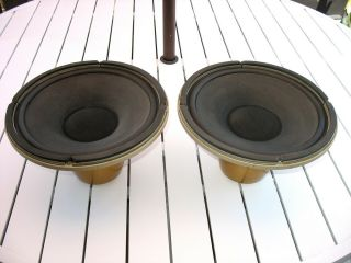 "Pair Tannoy 12 "" Monitor Gold Speakers W/crossovers - From Owner"