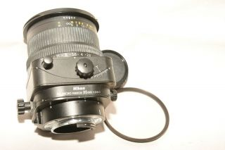 Nikon Pc Micro Nikkor 85mm,  F2.  8 D Tilt Shift Lens W/ Rear Cap & Filter