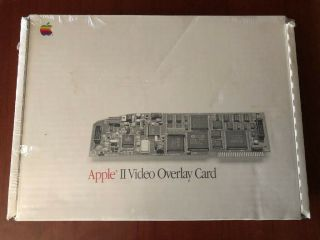 Apple Ii 2 Video Overlay Card,  Nib.  Apple Iigs Graphics On Your Iie