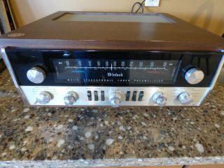 Mcintosh Mx 110 Z Stereo Fm Tube Tuner Preamplifier,  Authentic Walnut Cabinet