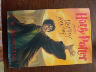 J.  K.  Rowling Signed First Edition Hpdeathly Hallows.  Authentication Sticker