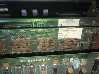 Heathkit H8 Digital Computer CPU & 16K Static RAM,  Serial IO,  Controller Boards 6