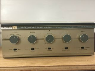 Altec 353a Stereo High Frequency Power Amplifier Preamplifier - Serviced