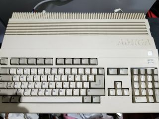 Amiga 500 Computer Great With Mouse,  A501 Ram Expansion And Power Supply