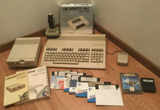 Commodore 128,  1541 - Ii Disk Drive,  C2n Datasette 1530 Cassette Tape,  Software