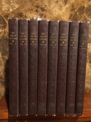 Napoleon Hill / The Law Of Success 1937 (Signed On Book) Complete 8 Book Set. 2