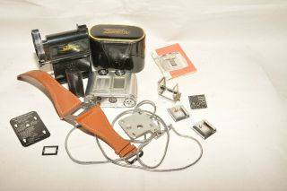 Tessina By Concava 35mm Film Outfit With Wrist Strap,  Viewer,  Case & Loader