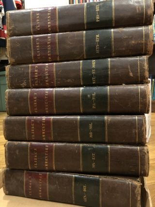 Adam Clarke's Seven Volume 1811 Commentary And Notes On The Bible