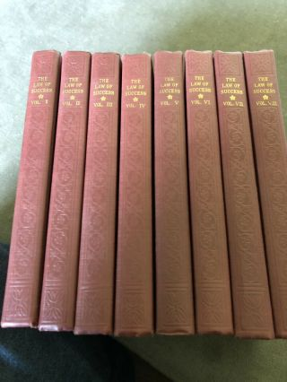 The Law Of Success In Sixteen Lessons.  8 Volume Set.  (1939) Napoleon Hill.