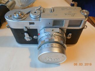 Leica Camera M - 2 With 35mm,  50mm,  135mm Lens Flash Case &