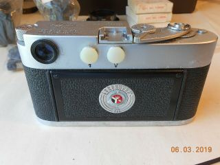 LEICA CAMERA M - 2 WITH 35mm,  50mm,  135mm LENS FLASH CASE & 9