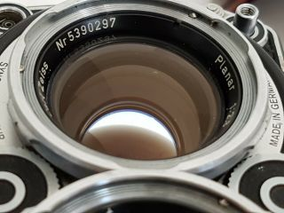 【top In Case】 Rolleiflex 2.  8f Tlr White Face Planar 80mm/2.  8 From Australia