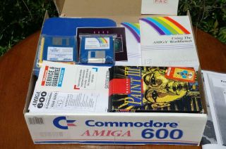 Commodore Amiga 600 Paint Deluxe 3 & Simpsons Pack BOXED COMPLETE 2