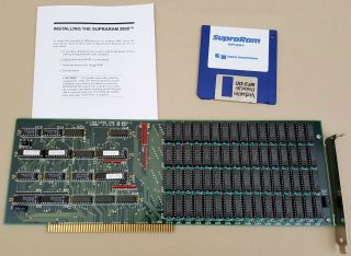 Supraram 8mb Ram Card W/8mb Ram Installed For Commodore Amiga 2000 2000hd 2500