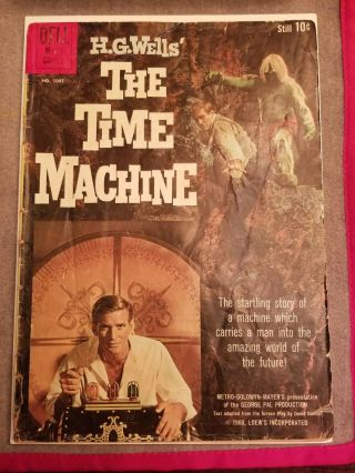 Vintage The Time Machine Comic Book Dell Publishing 1960 H.  G.  Wells No.  1085