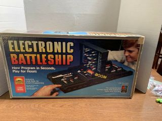 Vintage Electronic Battleship Game - 1982 Edition Complete With Code Book