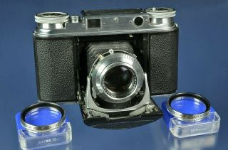 Voigtlander Vito Iii 35mm Rangefinder Camera 50mm Ultron Lens,  Close Up Filters