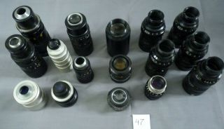 Sixteen Lenses For Tv Camera 47