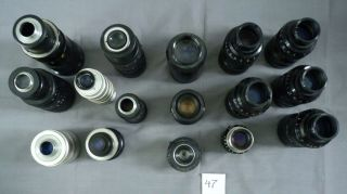 Sixteen Lenses for TV Camera 47 2