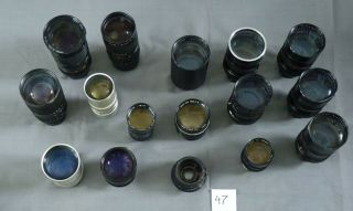 Sixteen Lenses for TV Camera 47 3