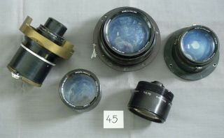 Five Lenses For Tv Camera 45