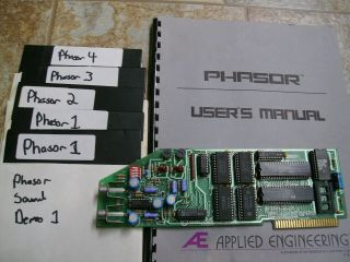 Applied Engineering Phasor Apple Ii 2 Iie Iigs Sound Card W/software &man