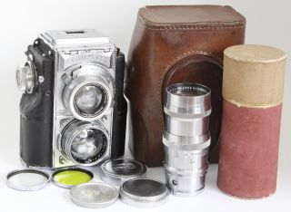 Contaflex Zeiss Sonnar 5cm 50/1.  5 1,  5,  135mm F4 Lenses Tlr Camera Medium Format