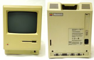 1984 APPLE MACINTOSH M0001 COMPUTER 128K w KEYBOARD MOUSE DISK DRIVE, 3