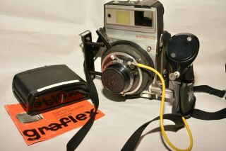 Graflex Xl With Rodenstock Heligon 80mm,  F2.  8 Plus Grip,  Roll Back & More