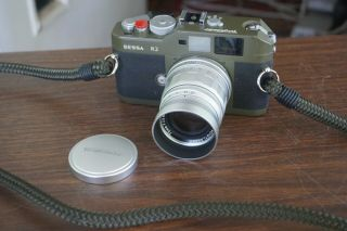 Voigtlander Bessa R2 Olive Green Camera With 75mm Heliar Immaculate