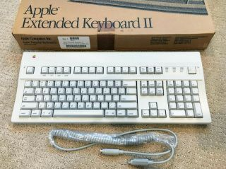 Apple Extended Keyboard Ii - M0312 - - Box,  Cables