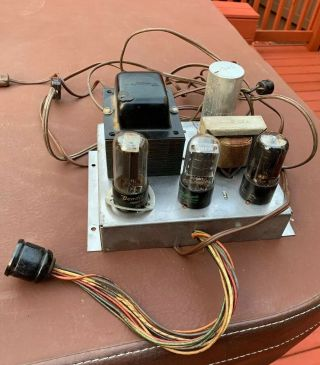 6v6 ? Tube Amplifier Vintage 1950s - 60s Mono Hi - Fi Guitar Project 6v6 Amp
