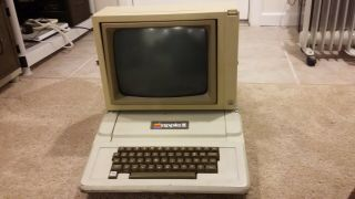 Apple Ii Computer And Monitor