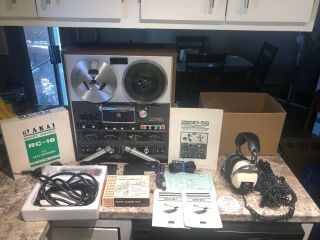 Akai 280d - Ss Reel To Reel Quadraphonic Quad Tape Deck With Accessories As - Is