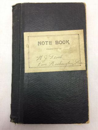 Vintage 1924 - 26 Note Book Of Expense From Tesch Port Washingoton Wi