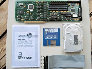 "Gvp "" G - Force Combo 030 - 33mhz & Scsi Rev 4 "" With 8mb Fast Ram Amiga 2000 2500"