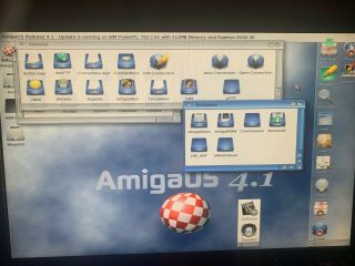 Commodore Amiga PEGASOS 2 COMPLETE SYSTEM Dual Boot OS 4.  1.  6,  Morphos 512mb 10