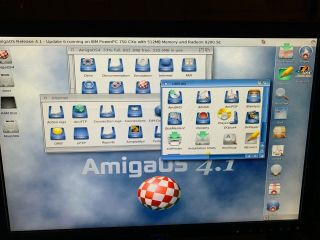 Commodore Amiga PEGASOS 2 COMPLETE SYSTEM Dual Boot OS 4.  1.  6,  Morphos 512mb 8
