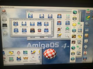 Commodore Amiga PEGASOS 2 COMPLETE SYSTEM Dual Boot OS 4.  1.  6,  Morphos 512mb 9