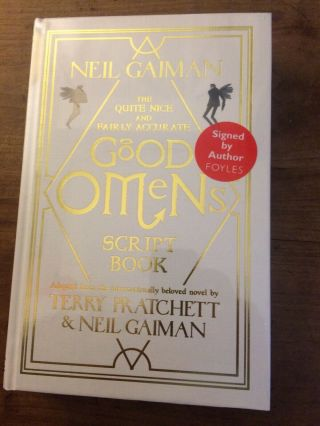 Good Omens Script Book - Neil Gaiman.  2019.  Signed,  Limited Edition 1/1