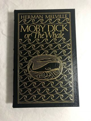 Moby Dick Or The Whale Leather Herman Melville Easton Press Collectors Ed.  1977
