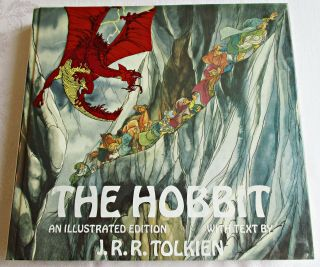 The Hobbit An Illustrated Edition Tolkien 1977 Rankin & Bass 1st Edition Abrams