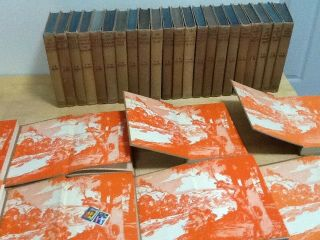 "Hardy Boys Complete 30 Volume Set Of ""browns"" With Orange End Papers 1932 - 51"