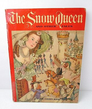 Vtg Deluxe Golden Book The Snow Queen & Other Tales 1962 Hardcover B3