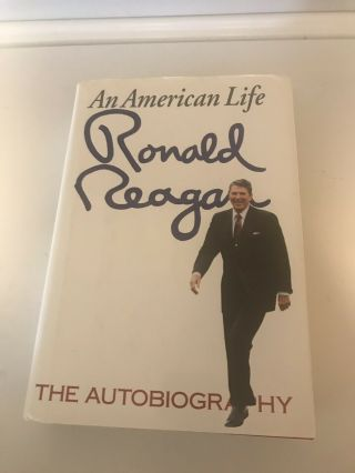 Ronald Reagan Signed Book,  An American Life,