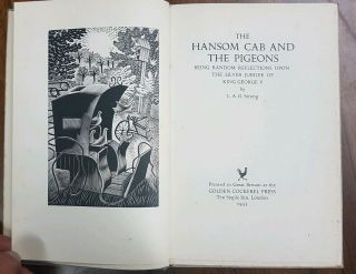 1935 Hansom Can And Pigeons Golden Cockerel Press Eric Ravilious