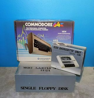 Commodore 64 Computer Bundle W/ Orig Boxes Model 1541 & 1530