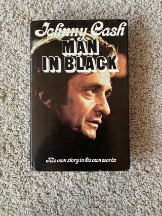 Signed By Johnny Cash Man In Black 1st Edition Hardback