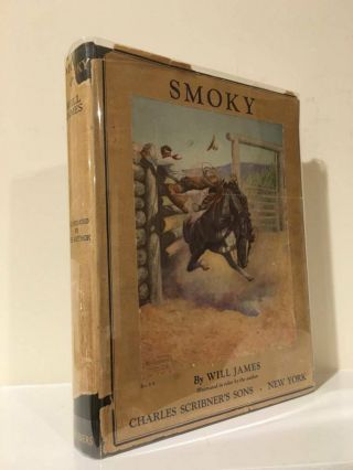 Smoky The Cow Horse Will James First Illustrated Edition 1929 Dust Jacket